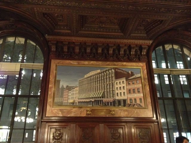 Harpers headquarters painting in the New York Public Library