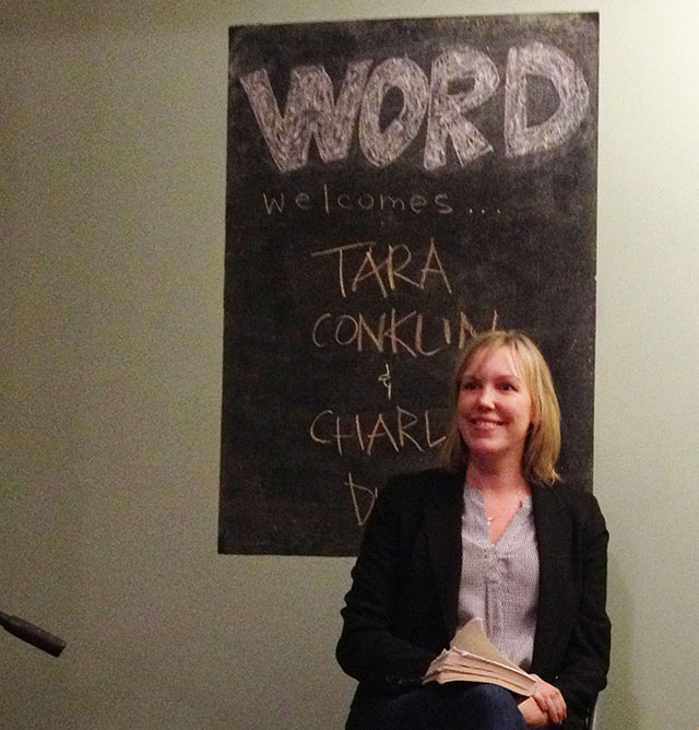 Tara Conklin reads from her novel, The House Girl, At WORD Bookstore in Brooklyn