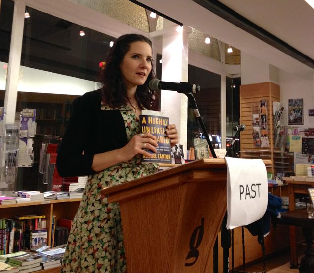 Hannah Tinti introduces Rachel Cantor at Greenlight Bookstore in downtown Brooklyn