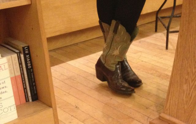 the matching boots Tinti and Cantor wore