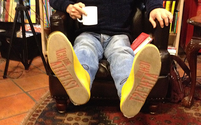 Alameddine's atheist shoes