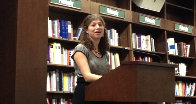 Tova Mirvis reads her new, third novel, Visible City, at Barnes and Noble on the upper west side of Manhattan