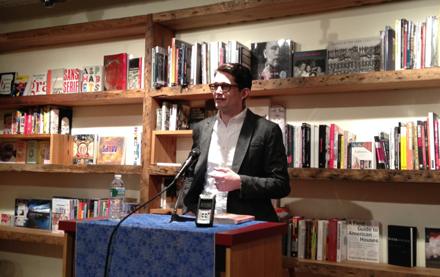 Ted Thompson reads from his debut novel The Land of Steady Habits at BookCourt in Brooklyn