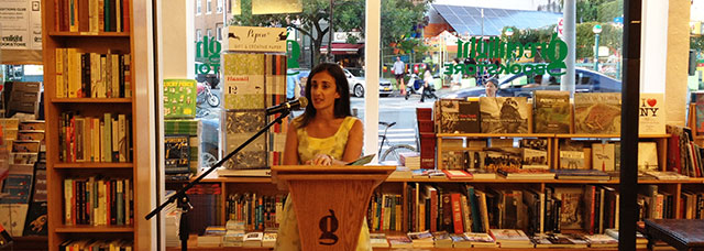 Marie-Helen Bertino launched her debut novel,2 A.M. at The Cat's Pajamas last night at Greenlight Bookstore