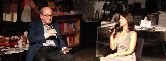 Vanessa Manko and Salman Rushdie discuss her debut novel, the invention of Exile at Powerhouse books in Brooklyn