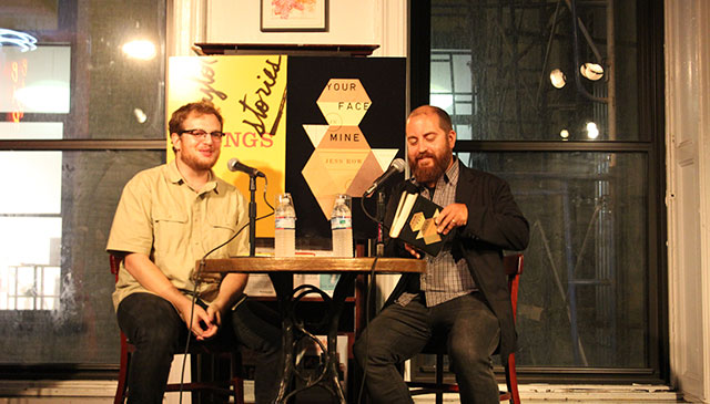 Justin Taylor and Jess Row talk about place in writing at Housing Works Bookstore in Manhattan, New York