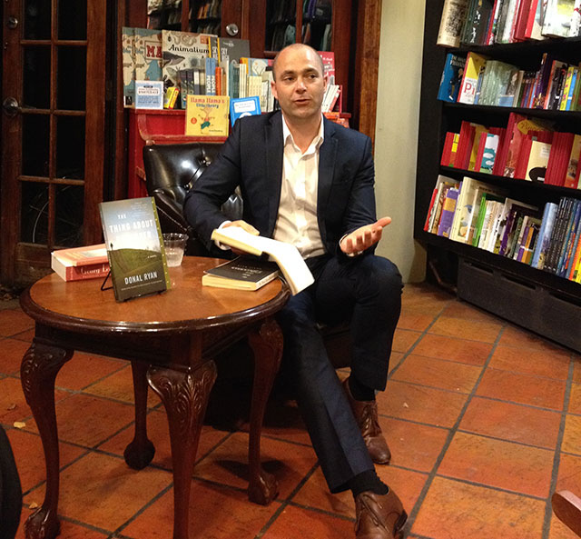 Donal Ryan Reads The Thing About December at community Bookstore in Park slope Brooklyn