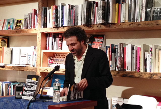 David Gordon reads form his new story collection White Tiger on Snow Mountain with editor Ed Park