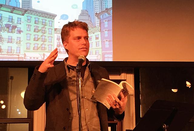 Adam Sternbergh, author of Shovel Ready