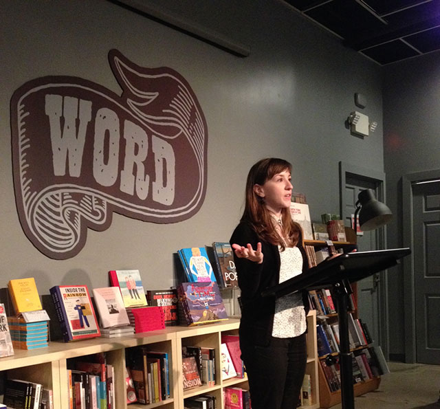 Jen DeGregorio, curator of The Cross series and Review at WORD in Jersey City