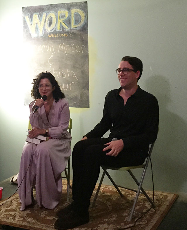 Porochista Khakpour and Benjamin Moser discuss Clarice Lispector at WORD Brooklyn at an event sponsored by Vol 1 Brooklyn