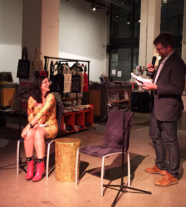 Porochista Khakpour talks with Lincoln Michel about UPRIGHT BEASTS, Photo Zack Graham