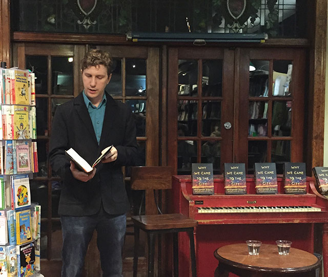 Kristopher Jansma reads WHY WE CAME TO THE CITY at Community Bookstore in Park Slope brooklyn