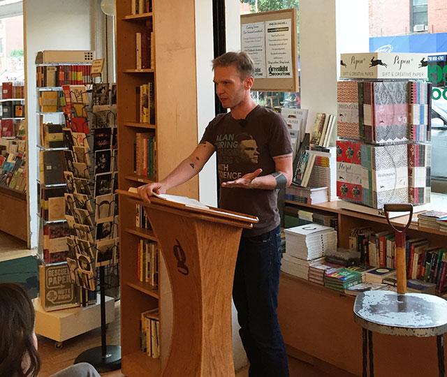 Bob Proehl reading at Greenlight Bookstore