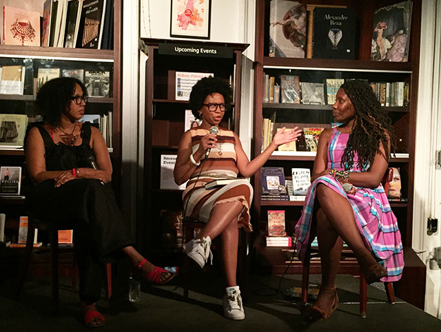Tiphanie Yanique, Glory Edim, and Nicole Dennis-Benn talk at Housing Works about HERE COMES THE SUN and LAND OF LOVE AND DROWNING