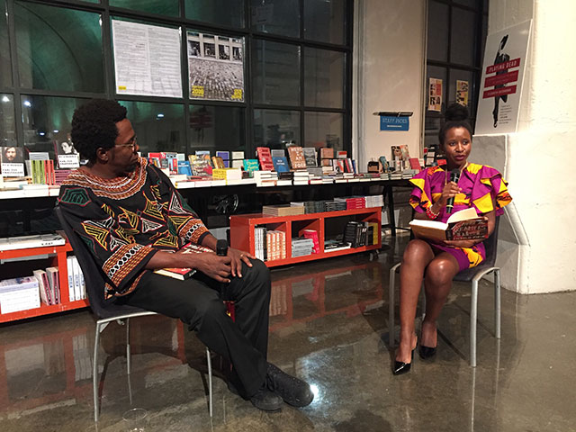 Patrice Ngangang and Mbolo Mbue at Powerhouse in Brooklyn