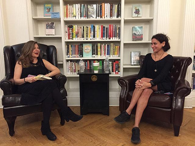Lauren Wein talks with Hala Alyan at Center for Fiction in Manhattan about SALT HOUSES