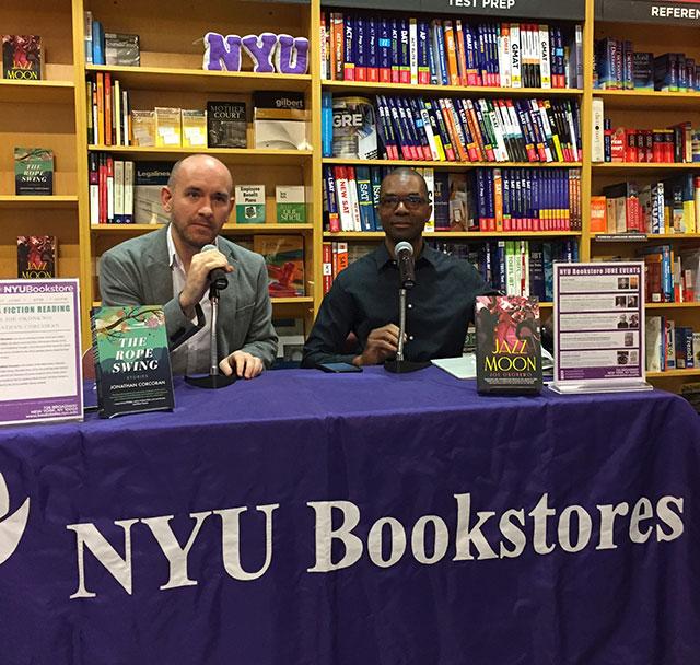 Joe Okonkwo reads JAZZ MOON and Jonathan Corcoran reads THE ROPE SWING at a Lambda Literary Awards sponsored reading