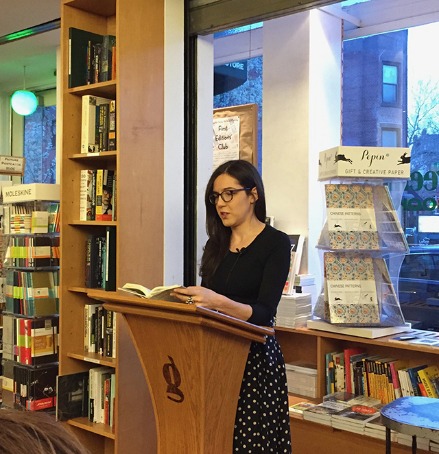 Sloane Crosley at Greenlight Bookstore reading Look Alive Out There